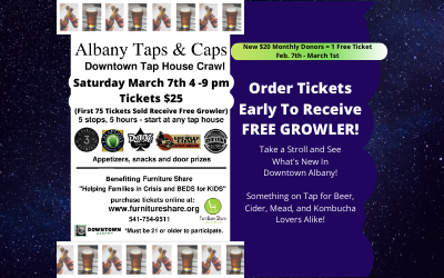 Albany Taps & Caps March 7, 2020!